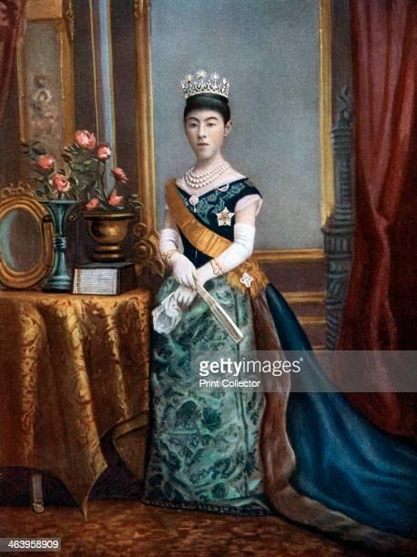 Empress Shoken, empress consort of Japan, late 19th-early 20th century. Shoken was married to Emperor Meiji.