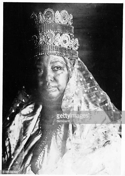 Empress Taitou of Abyssinia and wife of Emperor Menelik Undated photograph