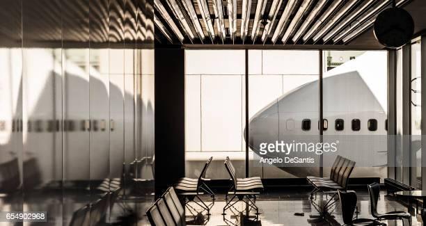 empty airport lobby