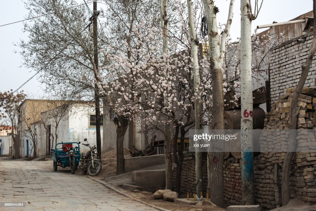 Empty alley at Kuqa's Old Town,China : Stock Photo