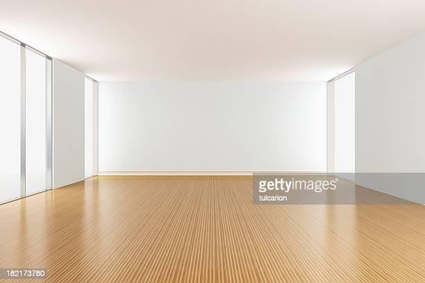 Vide salle de séjour d'un appartement