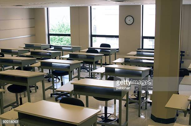 empty art classroom - high up stock pictures, royalty-free photos & images