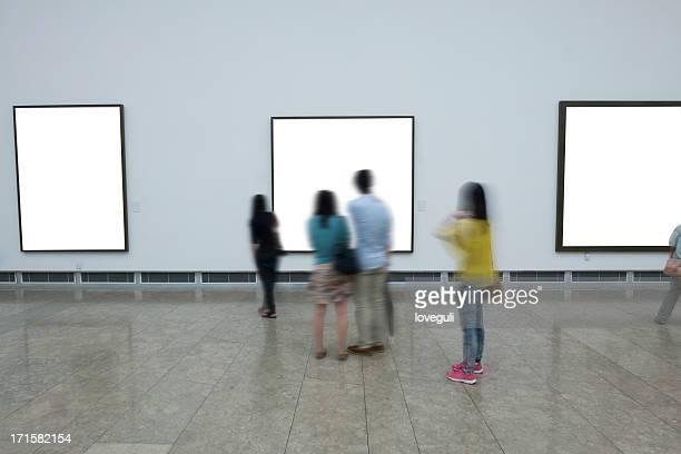 empty art form in museum