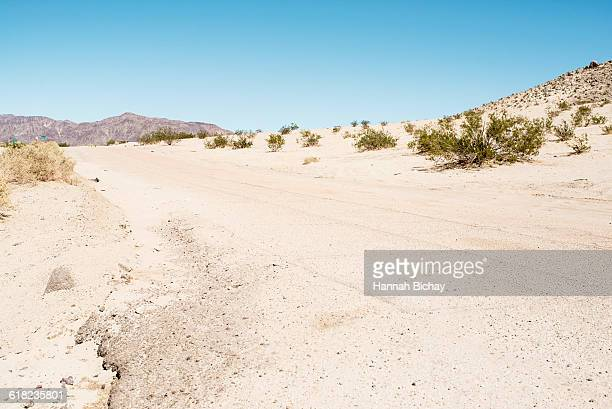 empty asphalt space in the Nevada dessert