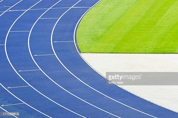 empty athletics track - olympic stadium stock pictures, royalty-free photos & images