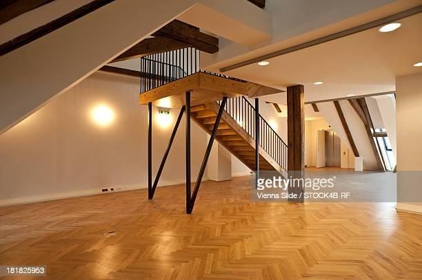 Empty attic, Vienna, Austria
