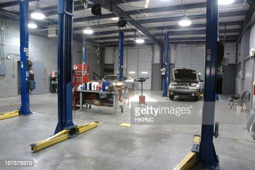 Empty Auto Repair Shop For Car Maintenance High