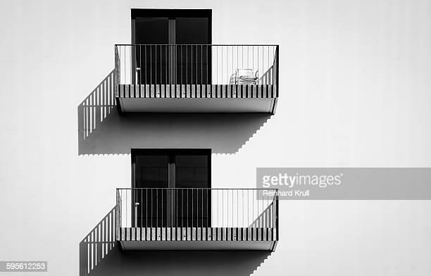 Empty Balconies On Building