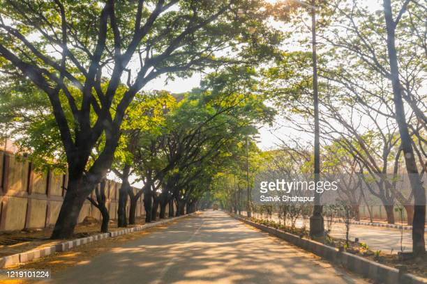 empty bangalore city roads during covid19 lockdown - lockdown stock pictures, royalty-free photos & images