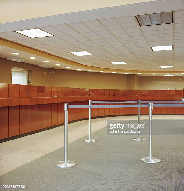 Empty bank office