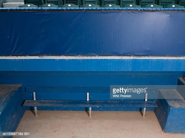 empty baseball dugout - sports dugout stock pictures, royalty-free photos & images