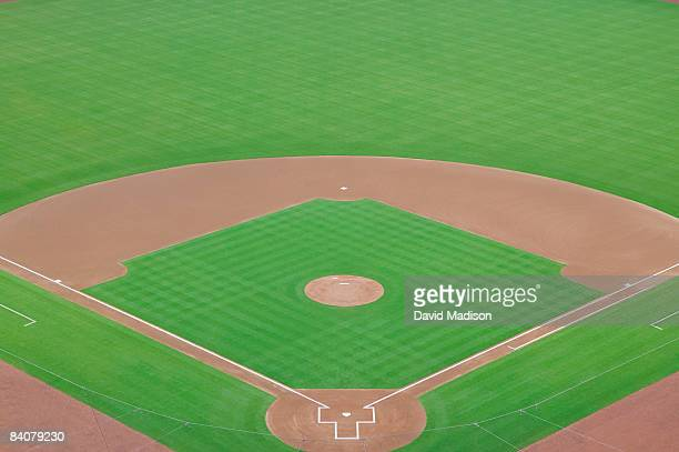 empty baseball field - home base sports stock pictures, royalty-free photos & images