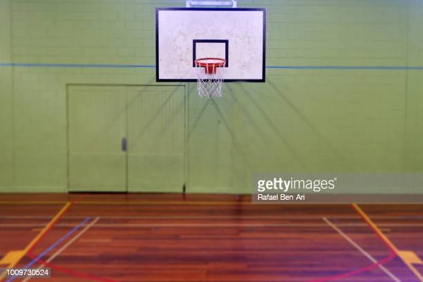 empty basketball court - rafael ben ari stock pictures, royalty-free photos & images