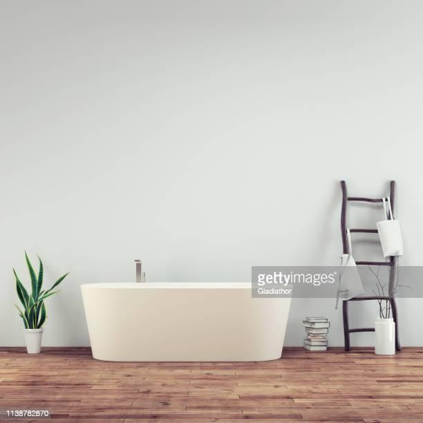 空の浴室の内部 - 風呂 ストックフォトと画像