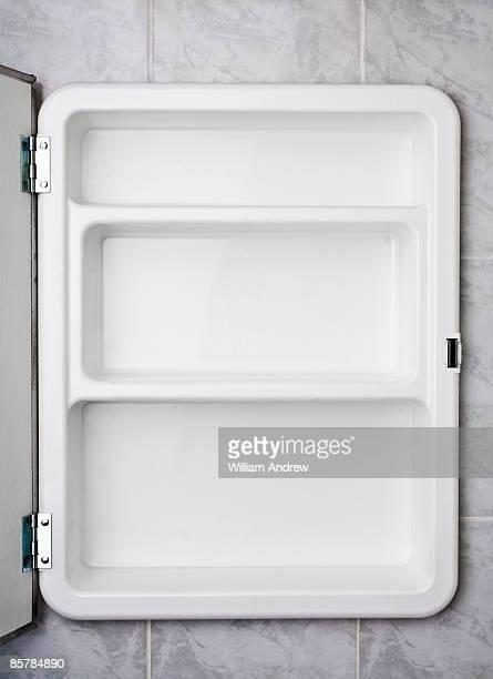 Empty bathroom medicine cabinet