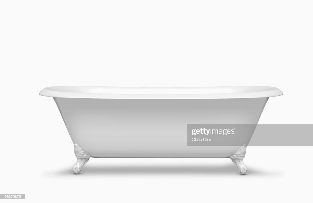 Empty bathtub in studio : Stock-Foto