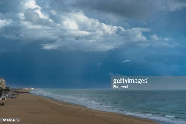 Empty beach after a storm, Cádiz