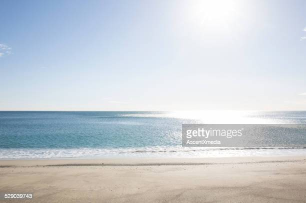 Empty beach and Mediterranean Sea