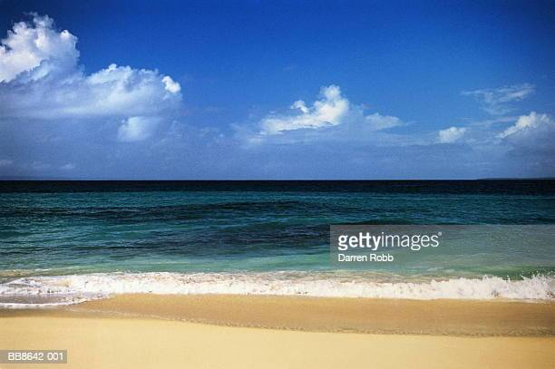 Empty beach and seascape, Dominican Republic