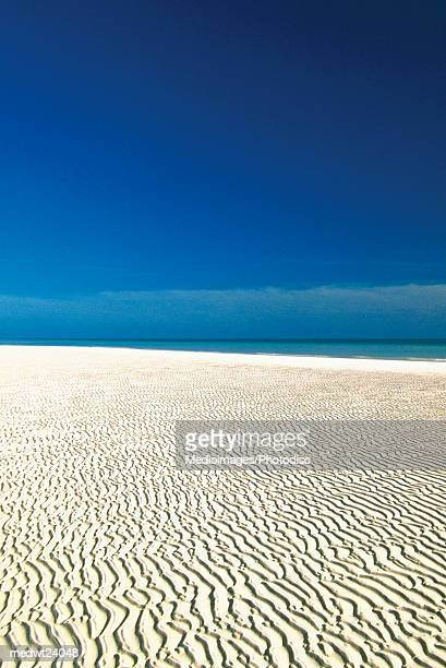 empty beach in lucayan national park on grand bahama island, bahamas, caribbean - lucayan national park stock photos and pictures