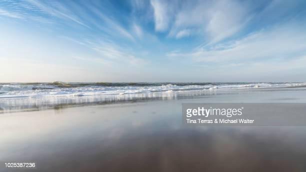 empty beach on the island sylt on a sunny day. - tina terras michael walter stock-fotos und bilder