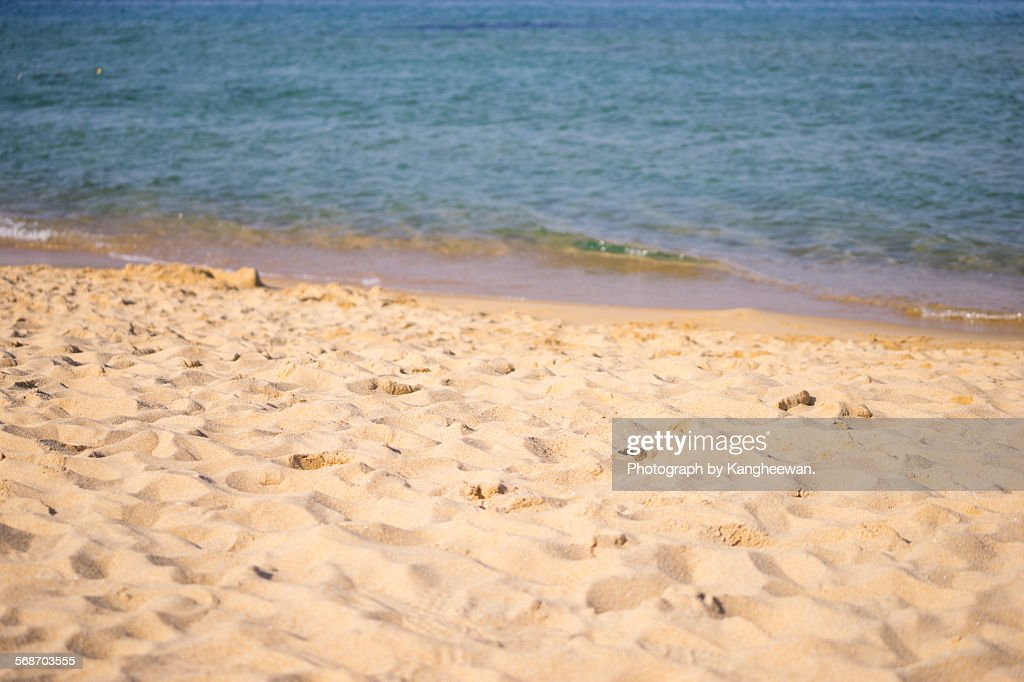 Empty beach : Stock Photo