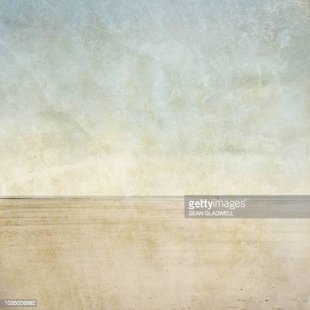empty beach west wittering - kunstdruck stock-fotos und bilder