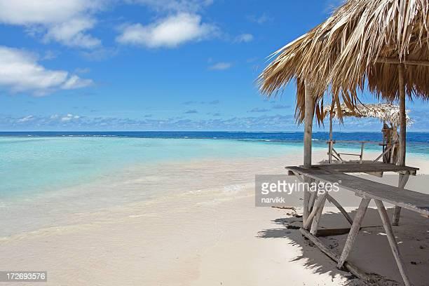 Vide avec la cabane de plage