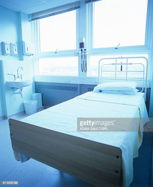 Empty bed in hospital
