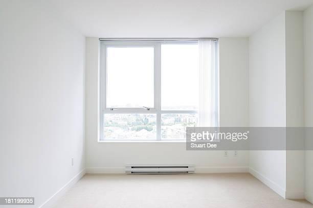 Empty bedroom, new condo apartment