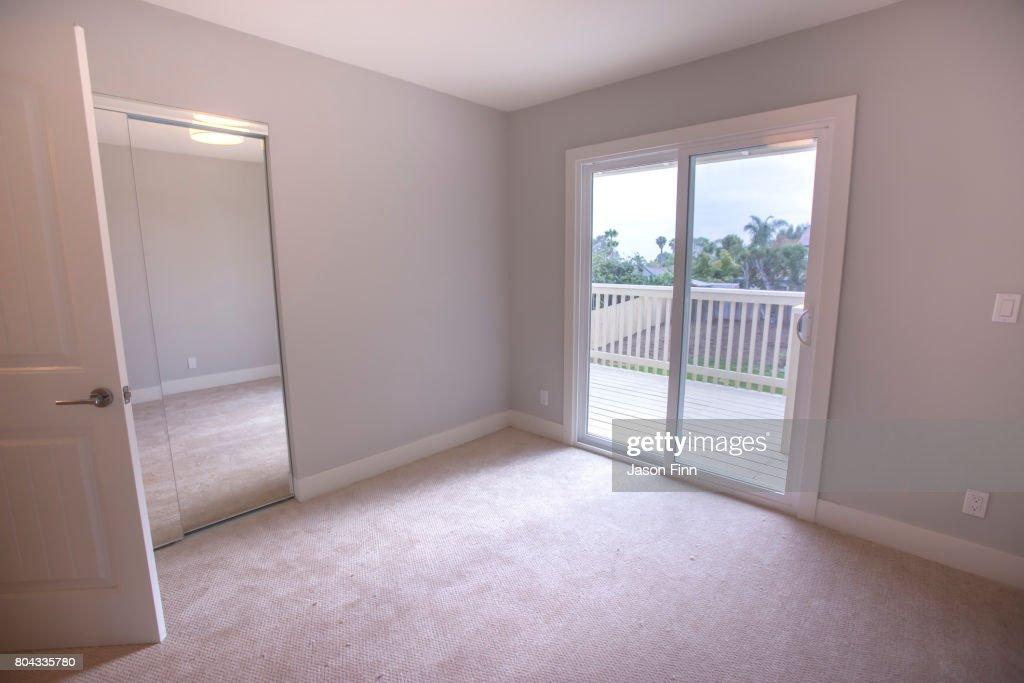 Empty Bedroom With Sliding Glass Doors On Deck Stock Photo Getty