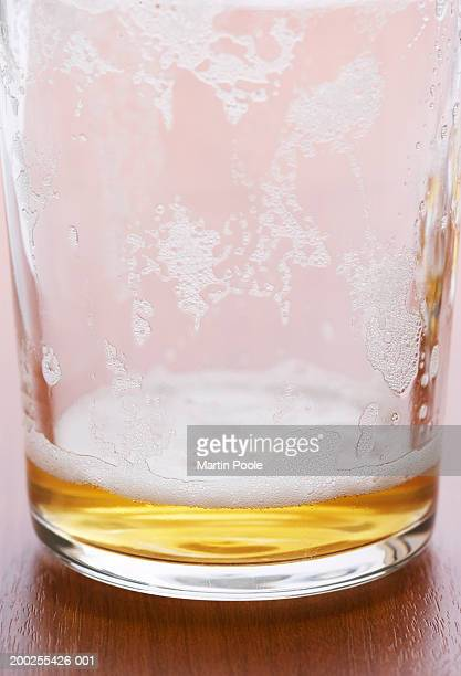Empty beer glass, close-up
