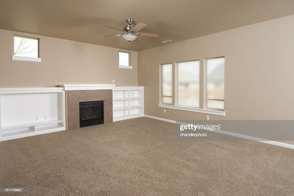 Empty Beige With Carpet Living Room Stock Photo Getty Images