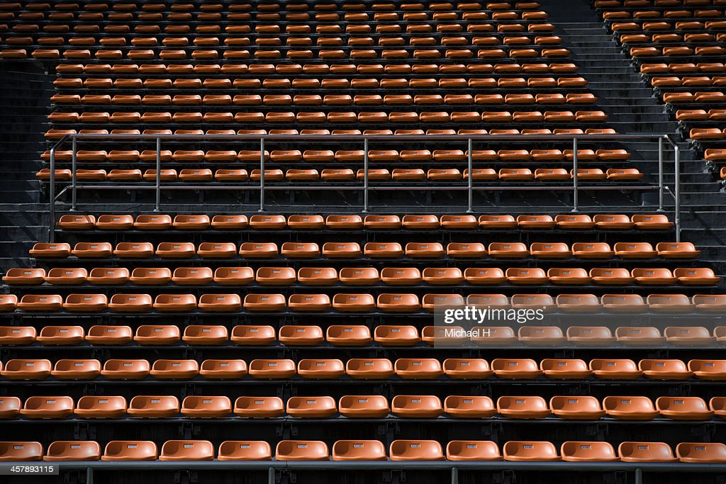 empty Bench in stadium : Stock Photo