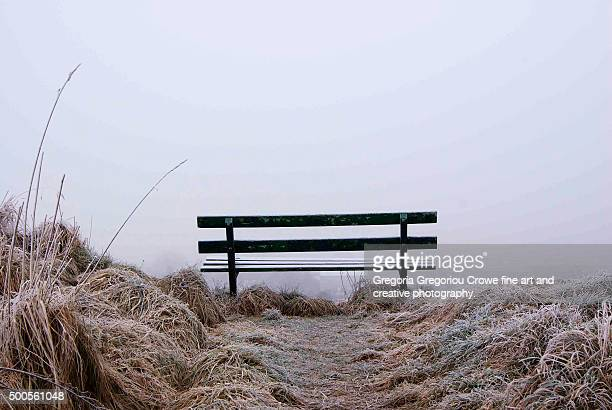empty bench - gregoria gregoriou crowe fine art and creative photography stock photos and pictures