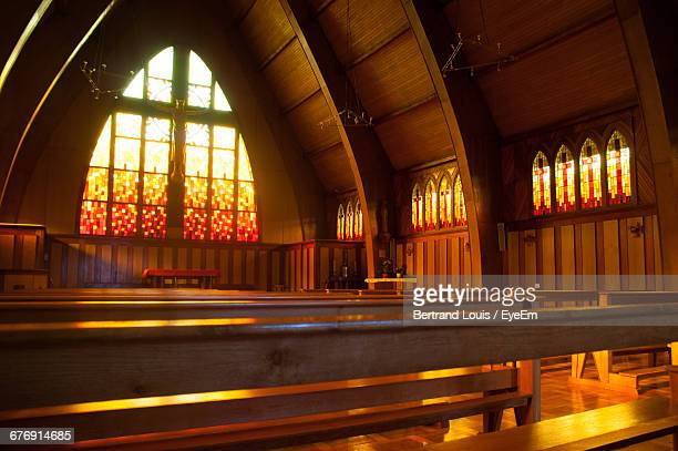 Empty Benches In Church