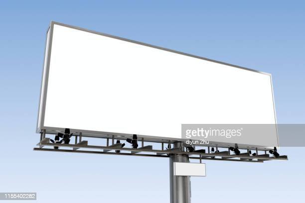 empty billboard,3d render - billboard stock pictures, royalty-free photos & images