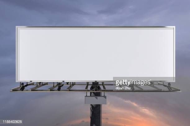empty billboard,3d render - twilight stock pictures, royalty-free photos & images