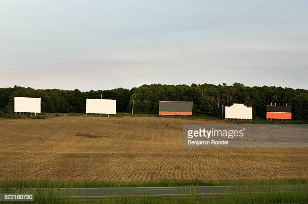 Empty Billboards on Field
