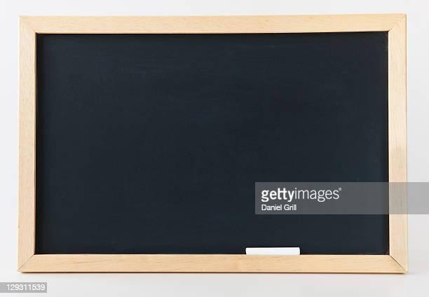 Empty blackboard, studio shot