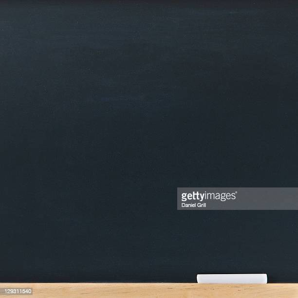 Empty blackboard, studio shot