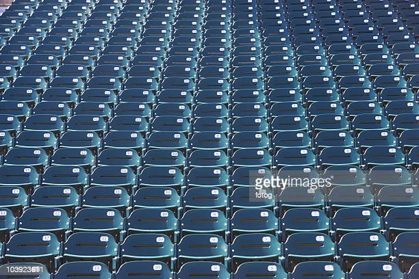 empty bleacher seats - empty bleachers stockfoto's en -beelden
