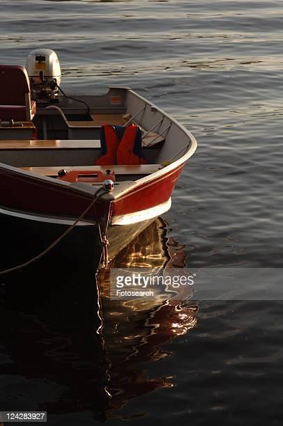 Empty Boat on Lake
