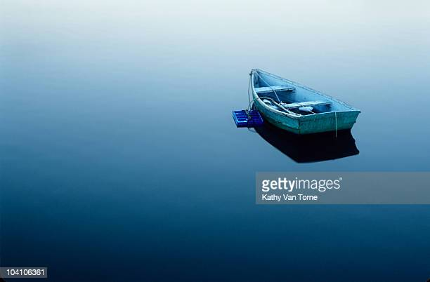 Empty Boat on the sea Water