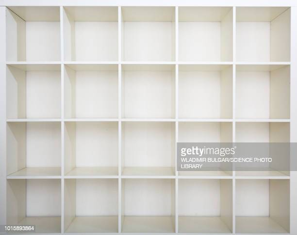 empty bookshelf - rack stock pictures, royalty-free photos & images