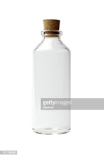empty bottle - cork material stock photos and pictures