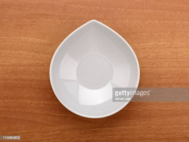 Empty Bowl On A Wood Background