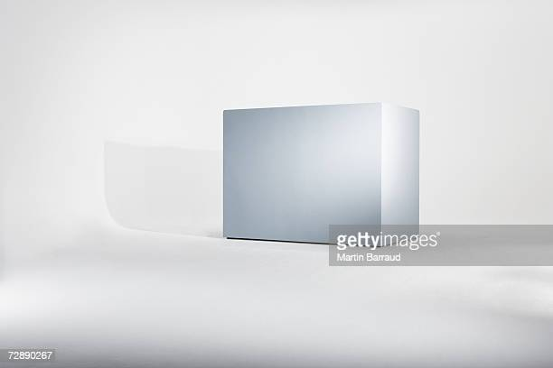 empty box against white background - cube shape stock pictures, royalty-free photos & images