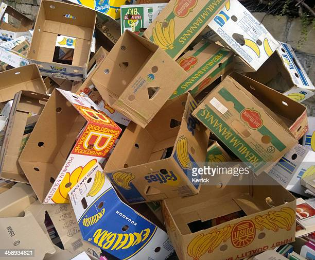 empty boxes on a pile