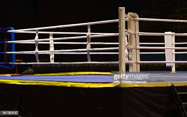 Empty boxing ring, Palace Of Sports, Zaporizhia, Kiev, Ukraine